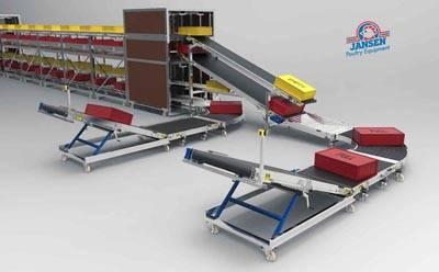 Jansen Poultry Equipment BroMaxx Crates Station broiler harvesting system