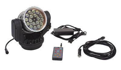 Larson Electronics 360 degree wireless remote controlled LED spotlight