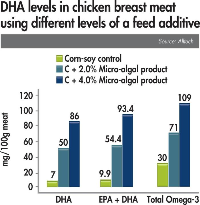 Micro algal products affect on DHA