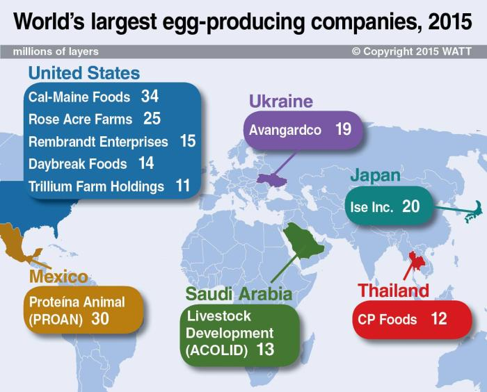 Infographic: World's largest egg-producing companies, 2015 ...