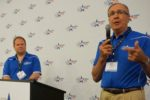 John Weber and Michael Formica speak at the World Pork Expo.