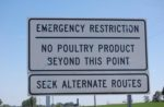 A quarantine sign