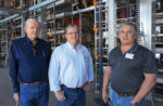 Hickman's Egg Ranch Founder Bill Hickman, left, President Glenn Hickman, middle, and Vice President Billy Hickman, right, pose in an under-construction cage-free layer house.