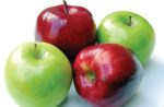red and green apples fiber source