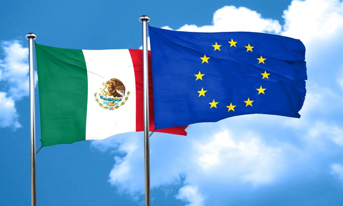 Mexico-and-European-Union-flags