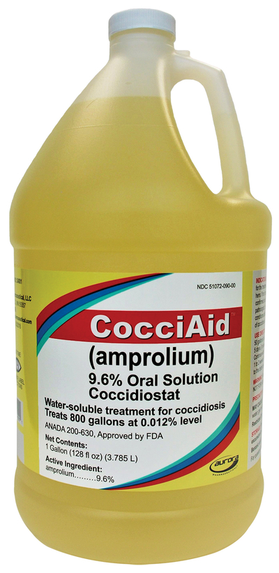 Aurora-Pharmaceutical-CocciAid-(amprolium)-9.6%-Oral-Solution-Coccidiostat