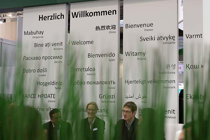 EuroTier welcome sign
