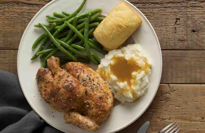 boston chicken Boston market is a restaurant and catering business it specializes in chicken rotisserie, beef briskets, and meatballs along with sandwiches, burgers, soups, and desserts.