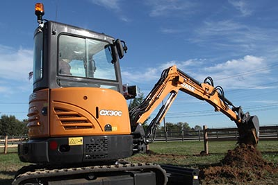 CASE CX30C mini excavator