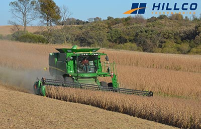 Hillco Technologies sidehill leveling system for John Deere S-Series combines