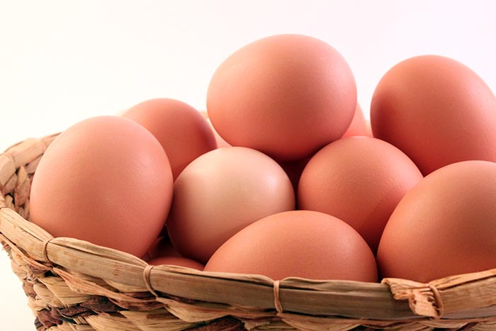 Basket-of-brown-eggs