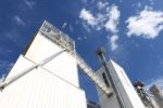 feed mill against blue sky