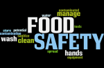 food safety word bubble