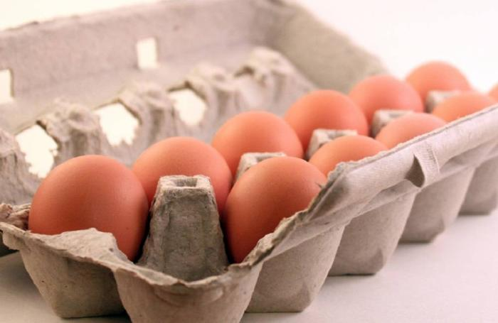 A carton of cage-free eggs