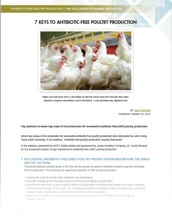 Learn the latest on ABF poultry production from the experts