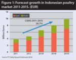 Chart of Indonesian poultry market growth