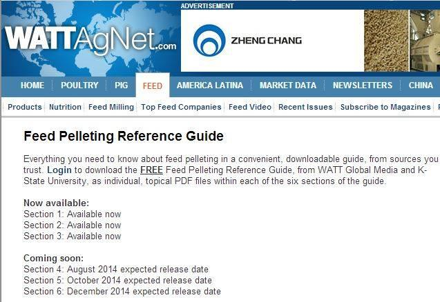 Feed Pelleting Reference Guide section three now available